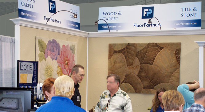 FloorPartners tradeshow booth